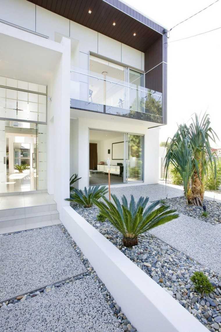 Jardin minimalista armon a de las formas en 50 ideas for Jardines modernos para casas