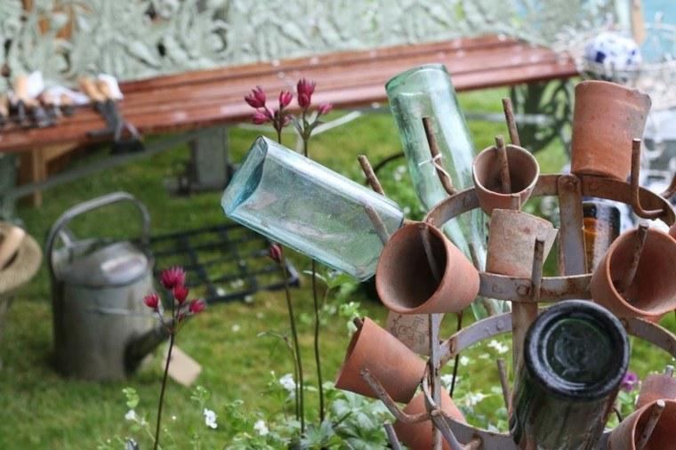 Accesorios jardin adornos muebles y luces de exterior - Decoracion de macetas de barro ...