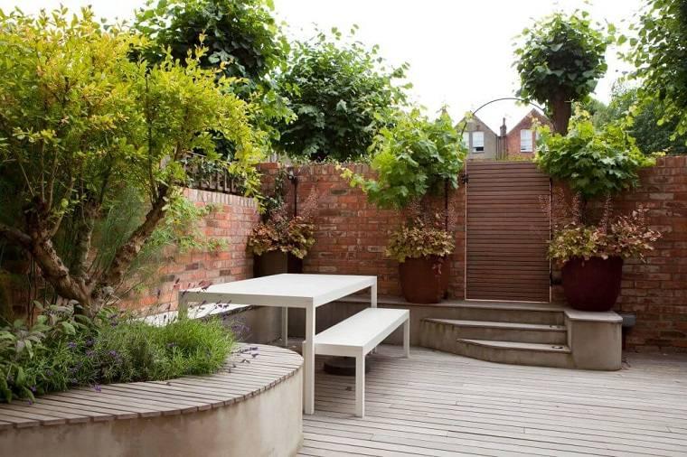 jardin entrada pequeno urbano diseno scenario architecture