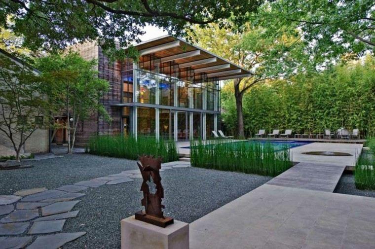 jardin escultura acero corten patio