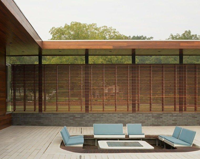 jardin estilo contemporaneo valla grande madera ideas