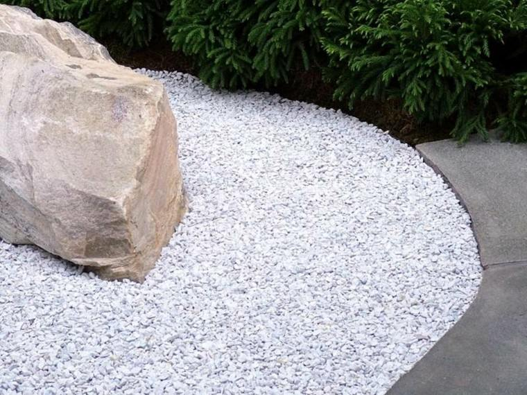 jardin guijarros piedra grande decorativa ideas