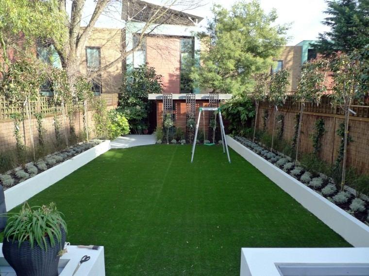 jardin hierba artificial alfombra verde