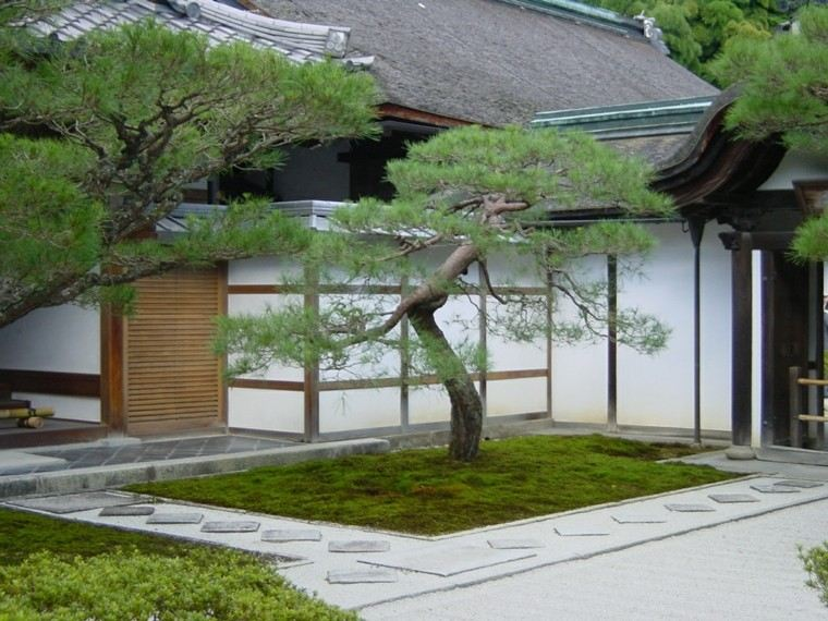 jardin japones inspiracion relajante cesped