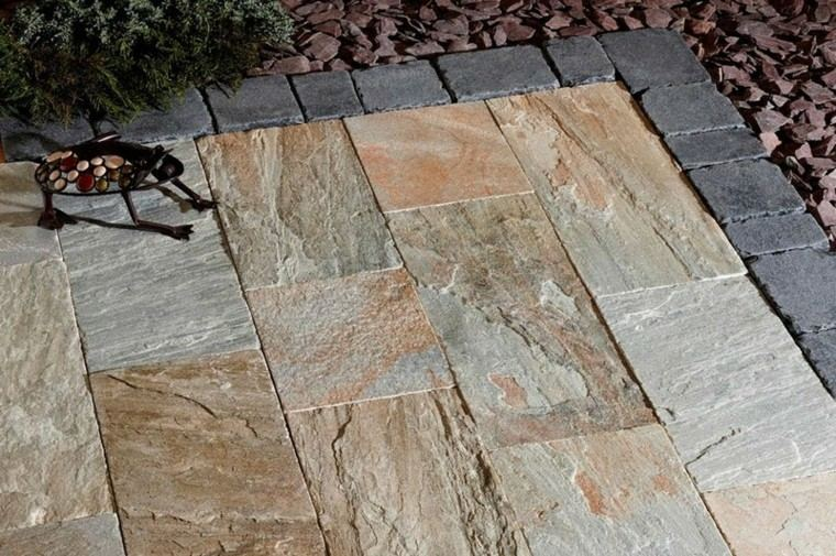Azulejos baldosas y losas para el suelo de tu jard n - Losas de piso exterior ...