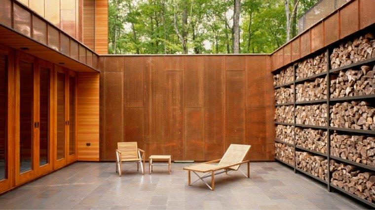 jardin minimalista vallas metal alta privacidad ideas