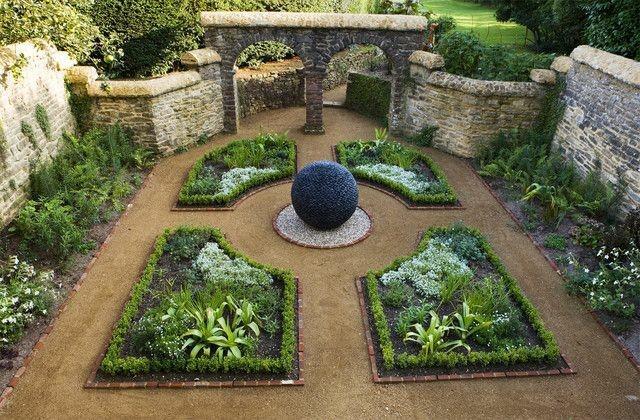 jardin paisaje estilo clasico bola