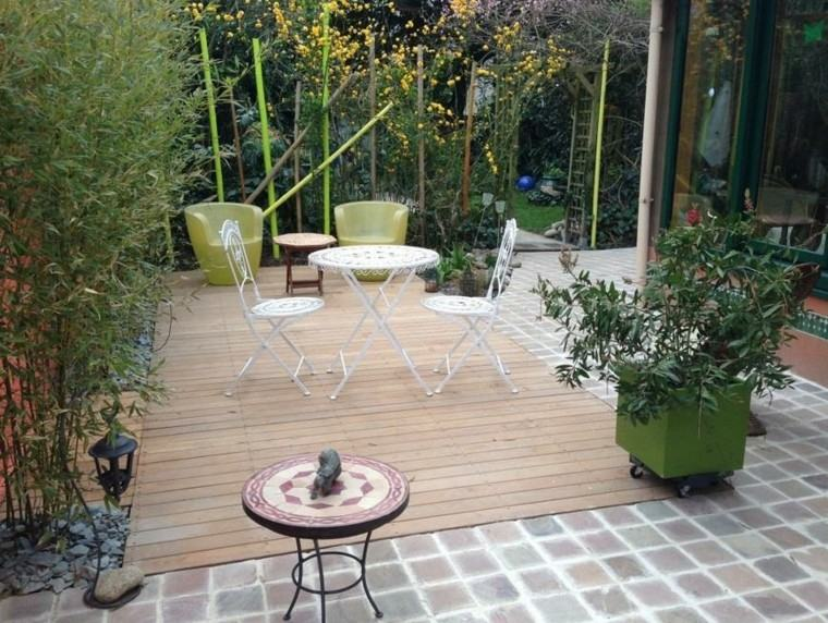 jardin patio muebles metal sillas