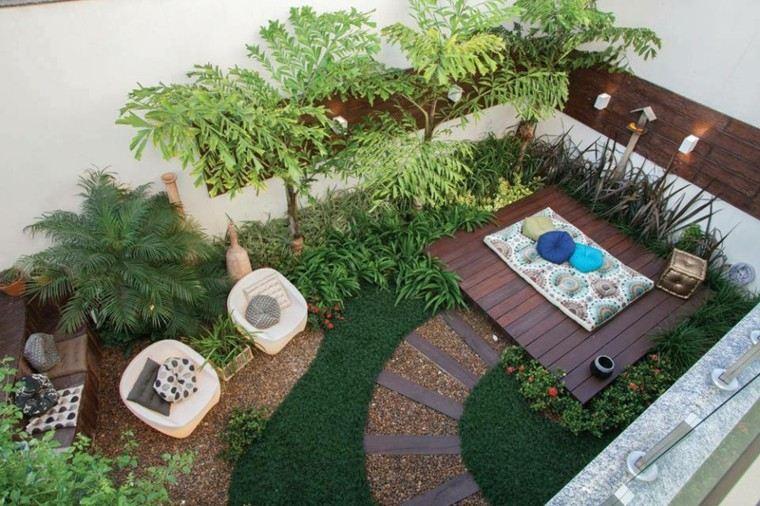 ideias para decorar meu jardim:Diseño de jardines pequeños y modernos – 50 ideas