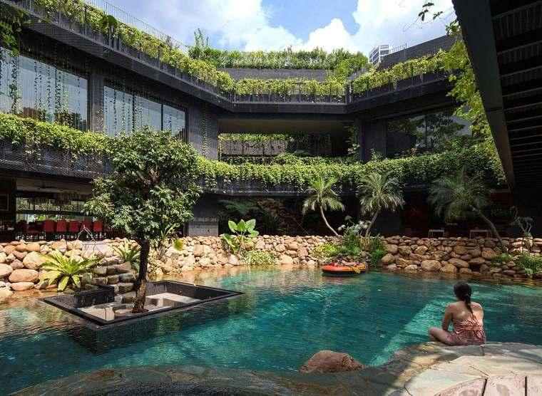 jardin piscina belleza naturalidad chang architects