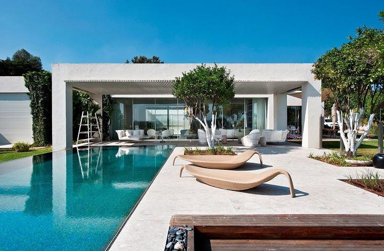 jardin piscina diseno minimalista estilo original