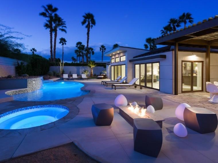 jardin piscina muebles modernos asientos