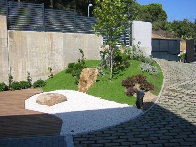 jardin rocas creativo sendero pendiente