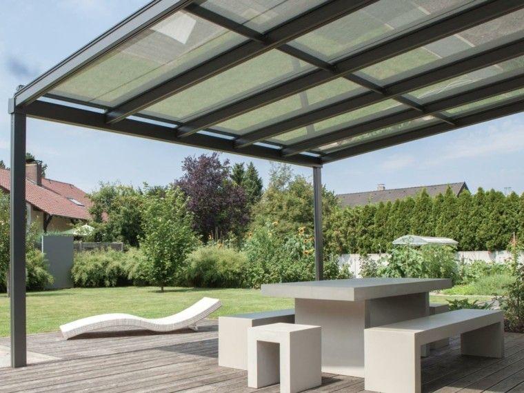 jardin tumbona mesa bancos hormigon blanco ideas