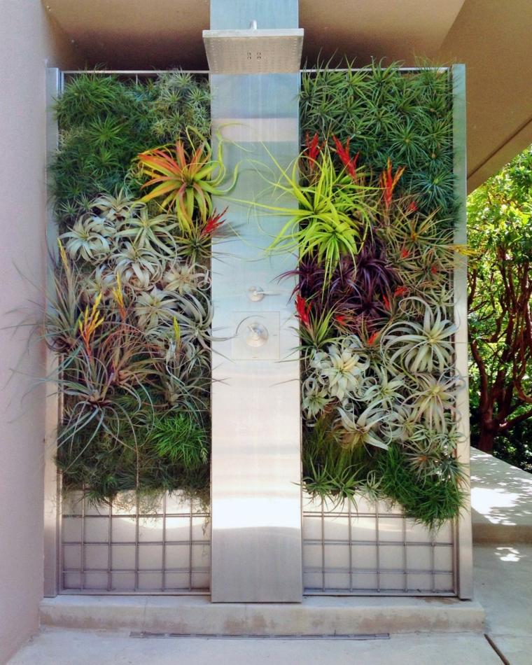 jardin vertical plato ducha