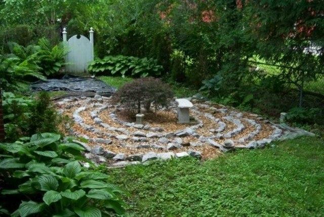 jardin estilo zen circulos centro