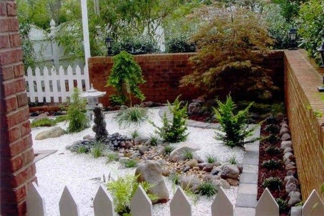 jardin estilo zen patio trasero