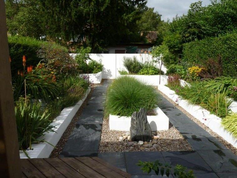 Dise o de jardines peque os y modernos 50 ideas - Jardin moderne zen villeurbanne ...