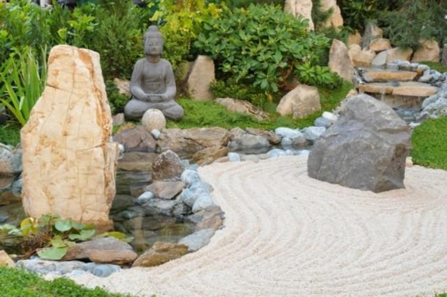 jardin estilo zen rocas grandes