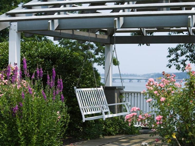 jardines espaciosos pergolas salas exteriores