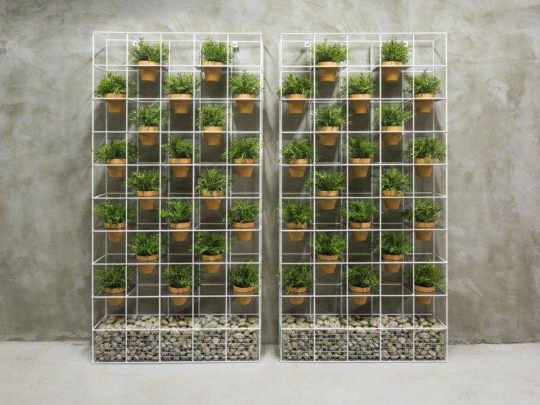 Dise o de jardines jardines verticales chimeneas piscinas - Macetas para jardin vertical ...