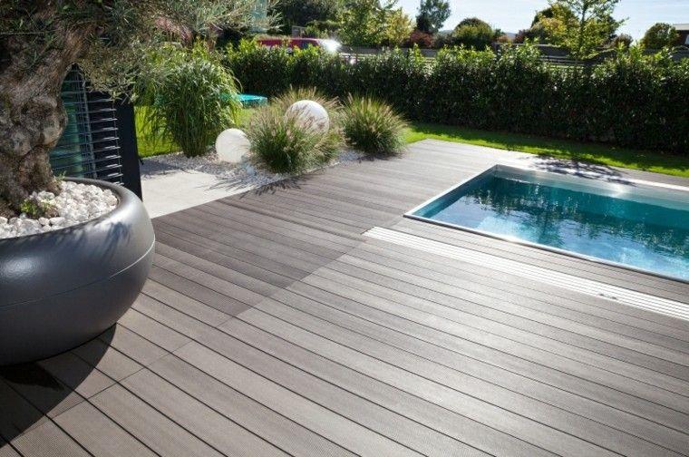 jardines y terrazas estilo minimalista piscina maceta grande ideas bonita