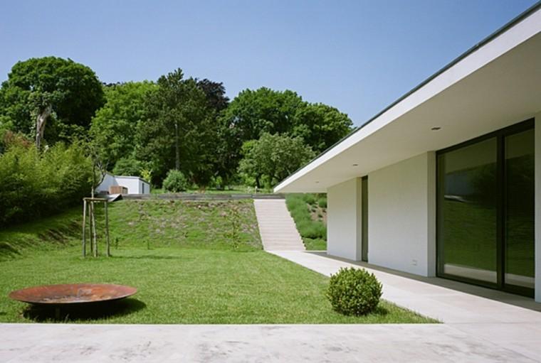 jardines y terrazas estilo minimalista plato decorativo cesped ideas