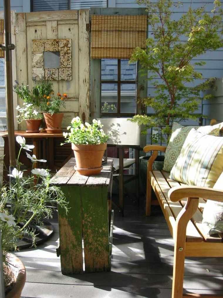 jardines y terrazas estilo rustico muebles reciclados ideas