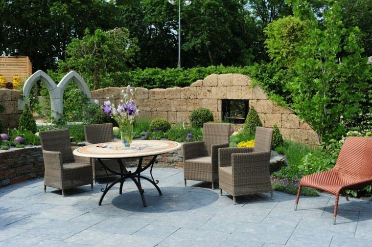 jardines y terrazas muralla decorativa epoca mesa preciosa ideas