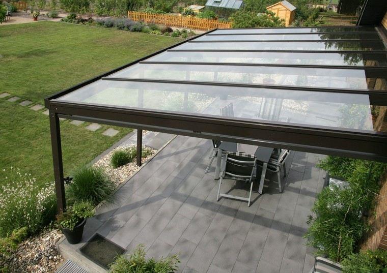 jardines y terrazas pergola cesped espacioso ideas