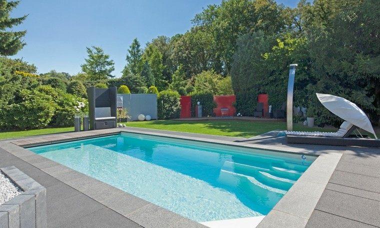 jardines y terrazas piscina tumbona espacioso ideas