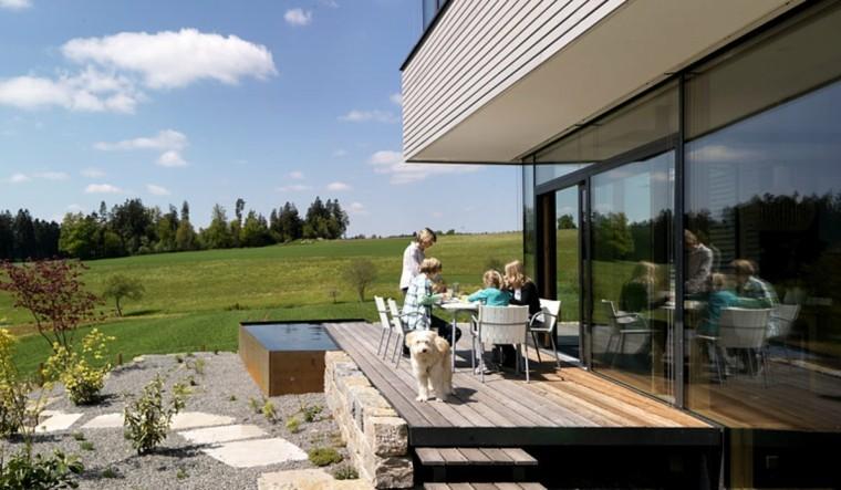 jardines y terrazas suelo madera lugar precioso comidas ideas