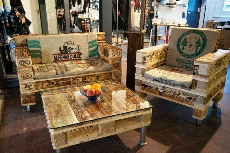 juego salon sillones mesa tienda modelo