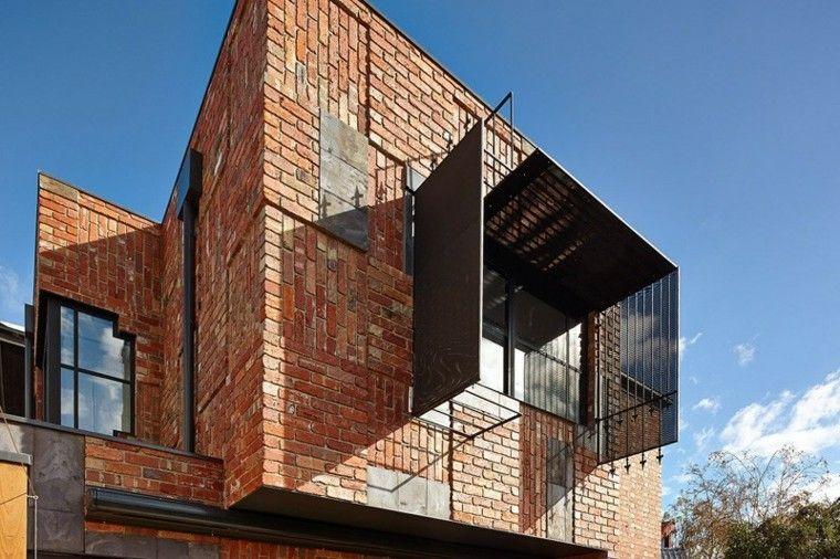 ladrillo casa arquitectura moderna ventana ideas