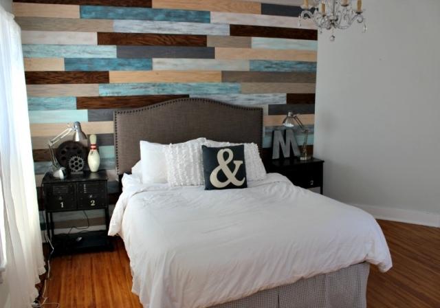 laminado madera colores cabecero cama