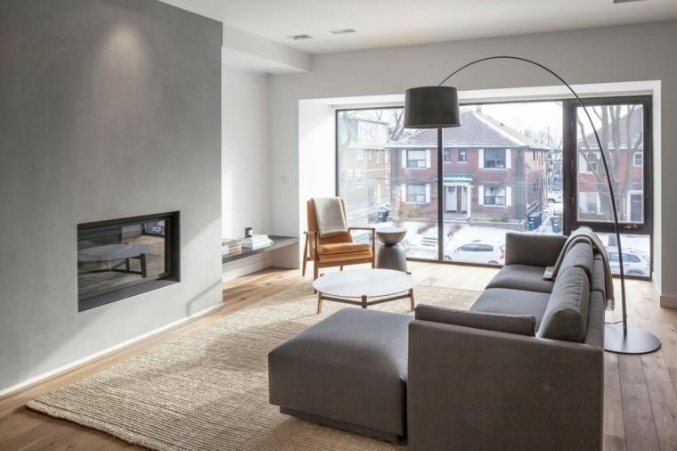 lampara alta sofa alfombra gris color