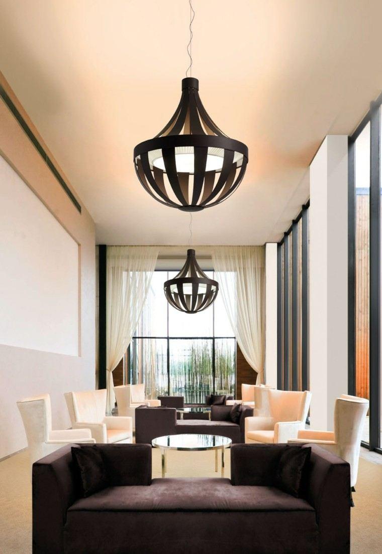 L mparas de techo ideas modernas para el interior - Lamparas colgantes minimalistas ...