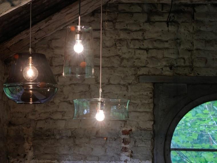 lámparas de techo ideas modernas cristal tubos