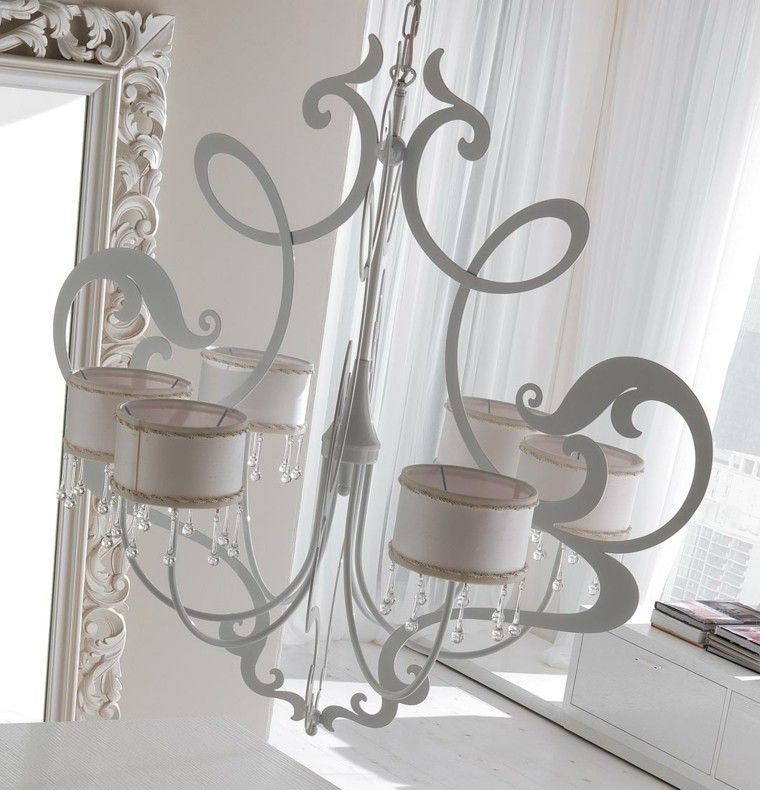lámparas de techo ideas modernas blanco elegante bonita
