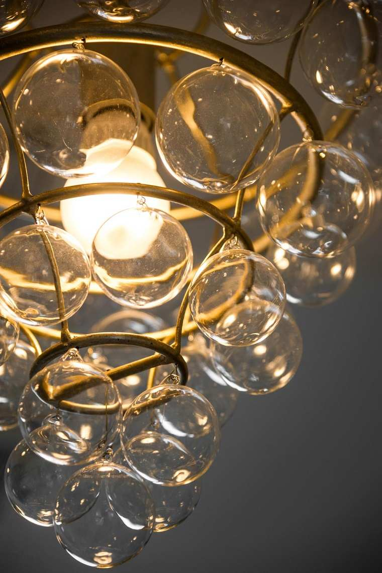 lámparas de techo ideas modernas burbujas interesante bonita