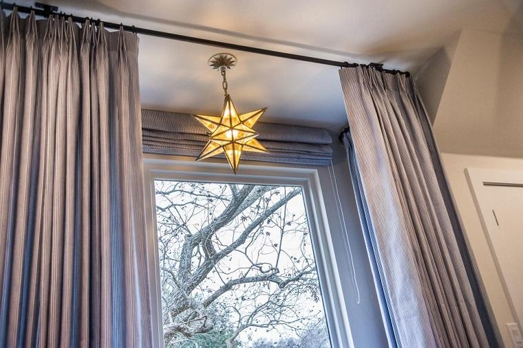 lamparas de techo ideas modernas forma estrella bonita