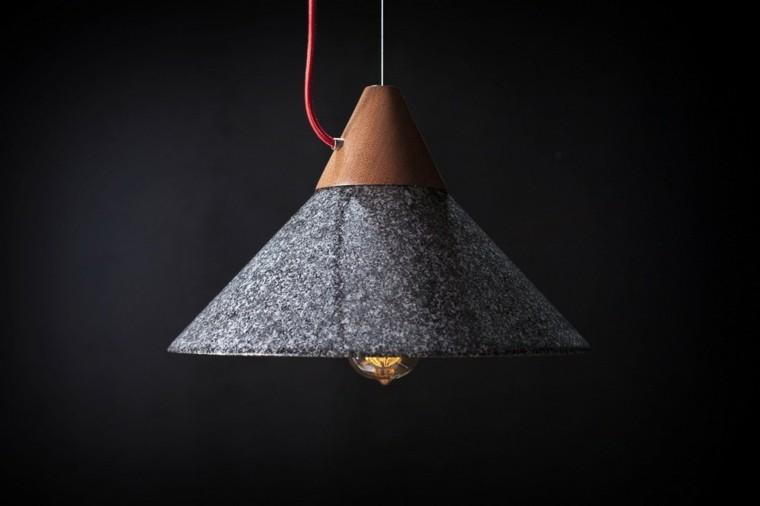 lamparas de techo ideas modernas granito negro bonita