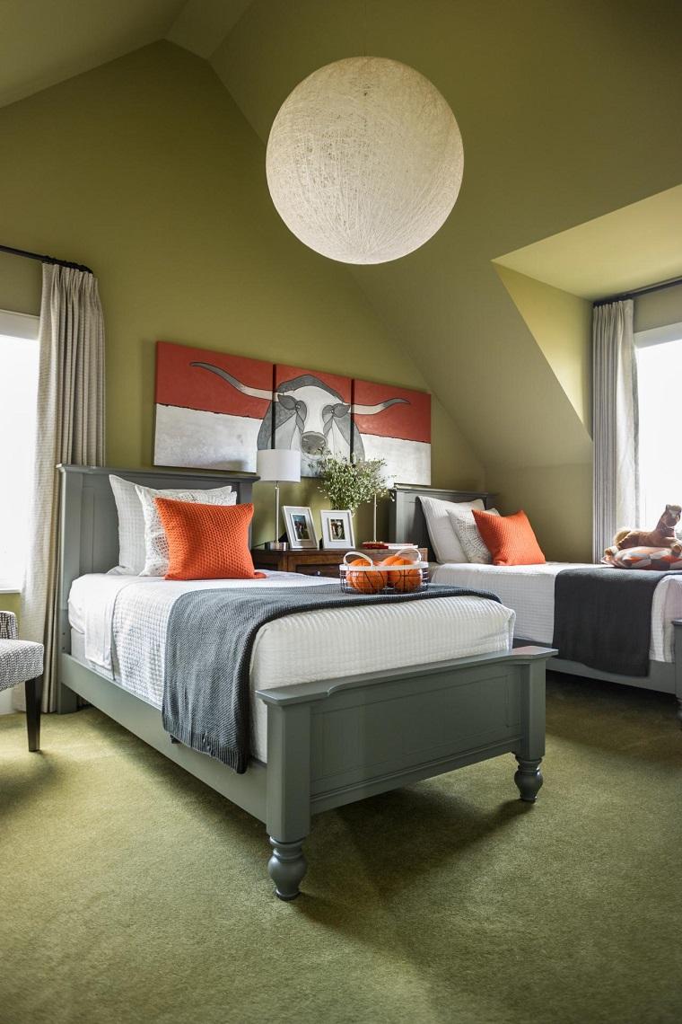 L mparas de techo ideas modernas para el interior - Lamparas de techo habitacion ...