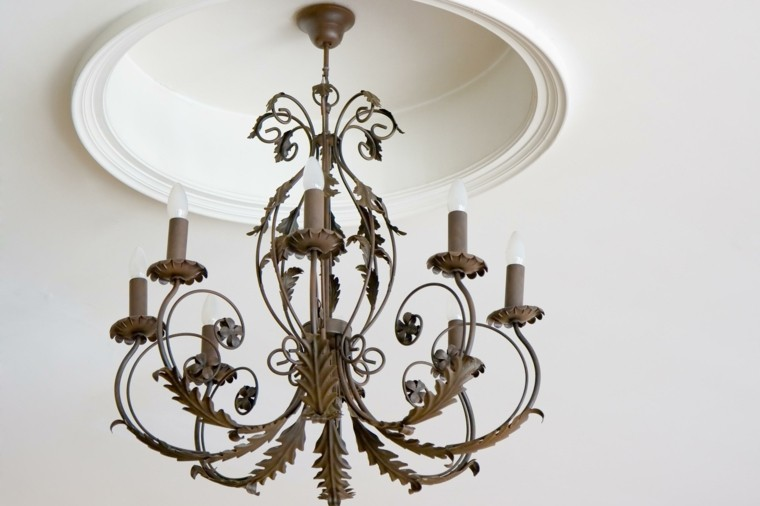 lamparas de techo ideas modernas hierro epoca bonita