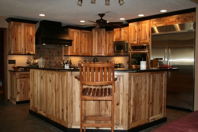 lamparas estantes rustico cocina led