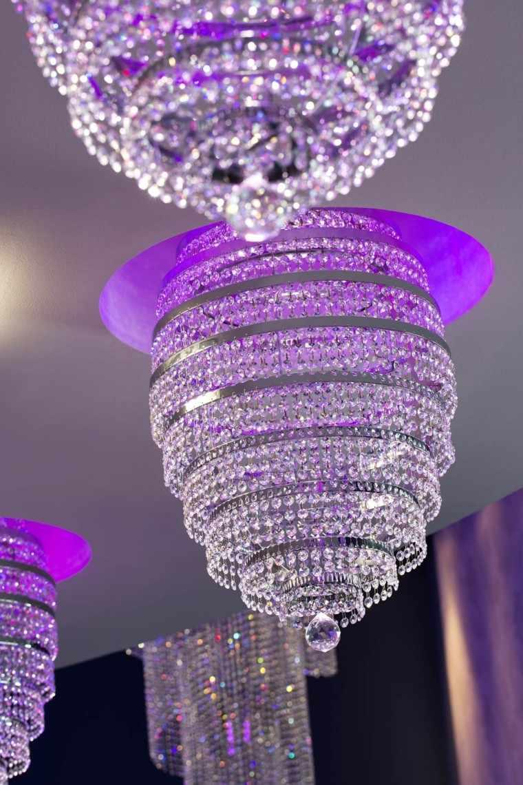 Lamparas Para Baño Modernas:Burbujas de cristal transparente en la lámpara de techo
