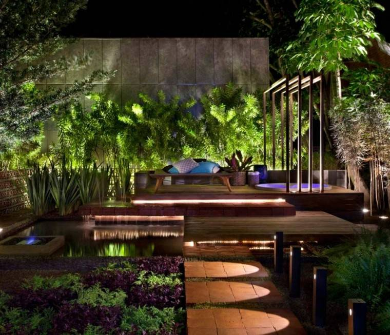 las terrazas ideas diseño plantas sendero
