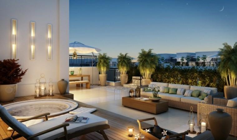 las terrazas ideas luces moderna farolillos