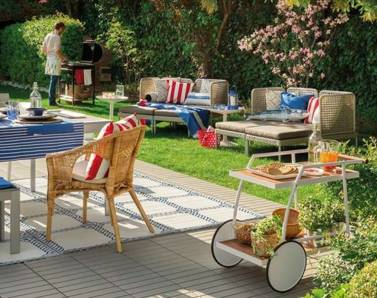 las terrazas ideas muebles mesa silla natural