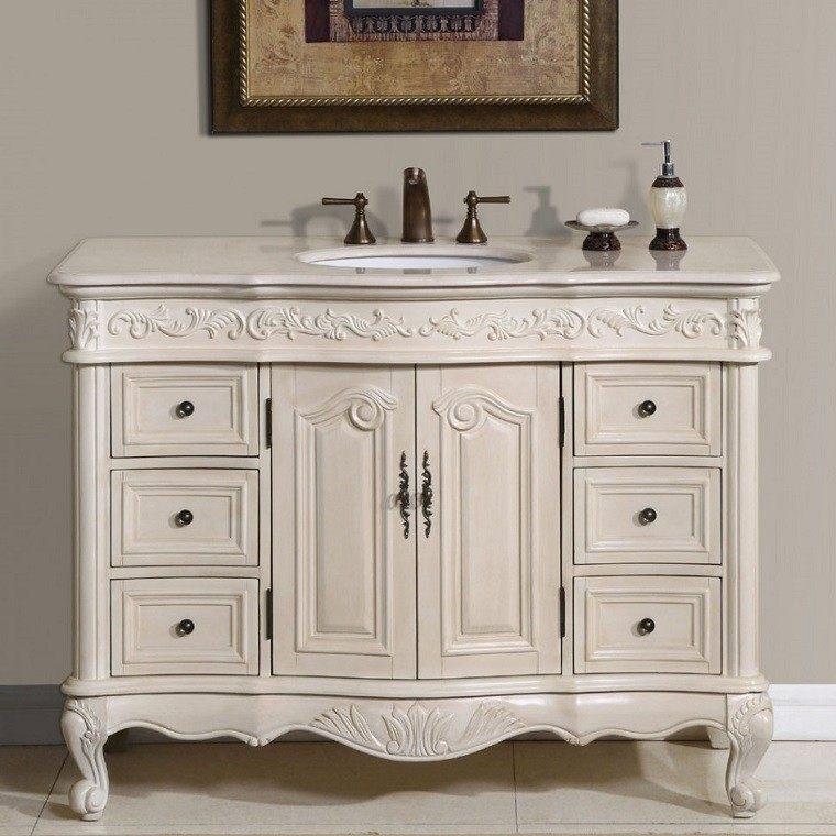 lavabo blanco madera grifos epoca victoriana ideas